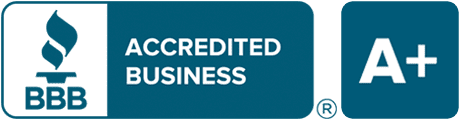 BBB Accredited Business A+ color logo
